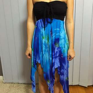 Vibrant Blue And Black Dress