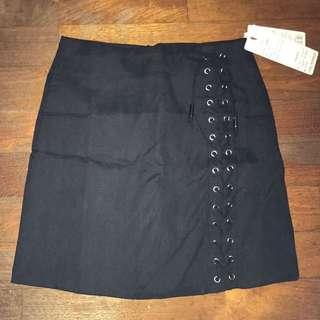 Black Shoelace Skirt