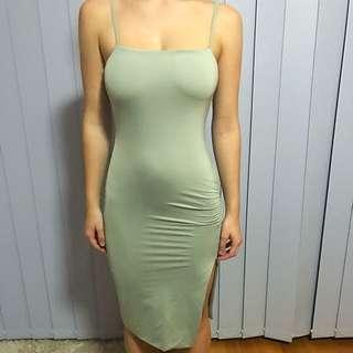 Kookai Seaweed Green Midi Dress