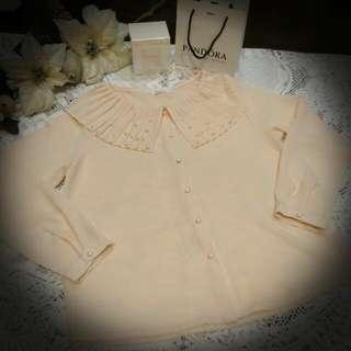 🚚 韓版雪紡珍珠上衣