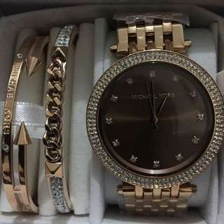 Authentic Michael Kors Watch Set
