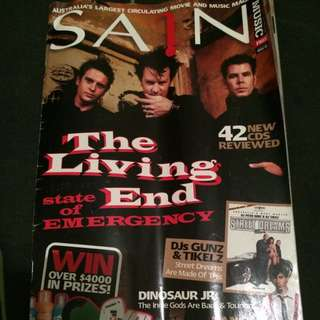 The Living End Autographs, Sain Music Magazine, February 2006