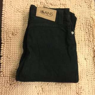 二手D&G黑色純棉長褲
