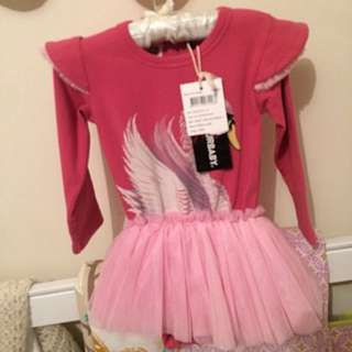 ROCK YOUR BABY DARK PINK SWAN LAKE DRESS