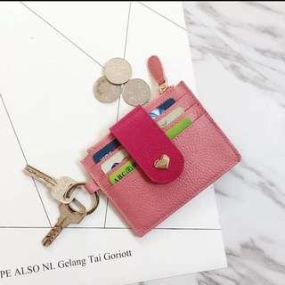 粉色零錢卡片夾