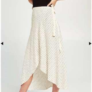 Bardot Linen Wrap Skirt