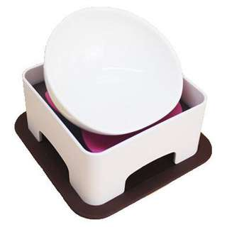 CERAMIC PET BOWL WITH ELEVATED STAND