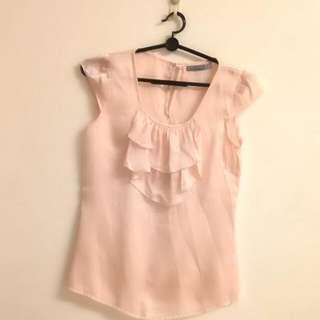 Peach Silk Top