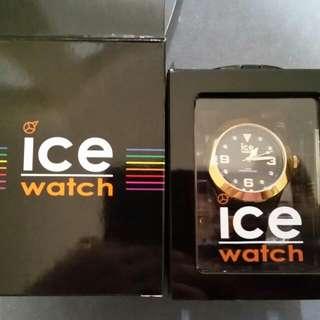 Elegant Tortoise Gold Unisex Ice Watch