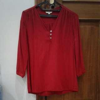 Red Shirt 3/4 sleeve
