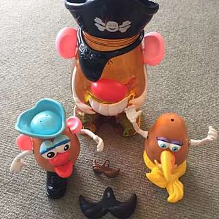 Mr. Potato Head Carry Case With Parts - Includes Mermaid Pirate Large Playskool
