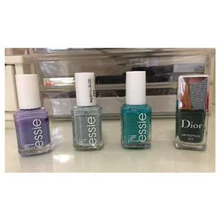 Essie, YSL, Dior Nail Polishes