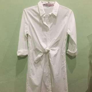 Tied White Dress