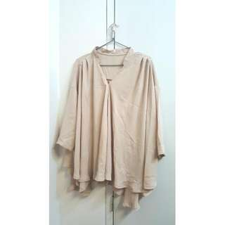 Flowy Nude Blouse/ Top