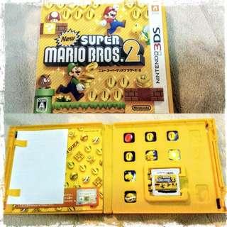 任天堂Nintendo 日文版 3DS 新 超級瑪莉歐兄弟 2 Super Mario bro 2 遊戲卡匣 高雄面交 瑪利歐 馬力歐 馬利歐
