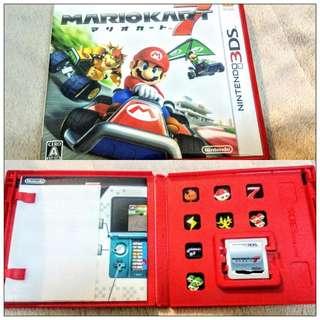 任天堂Nintendo 日文版 3DS 瑪莉歐賽車7 Mario Kart 7 遊戲卡匣 高雄面交 瑪利歐 馬利歐 馬力歐