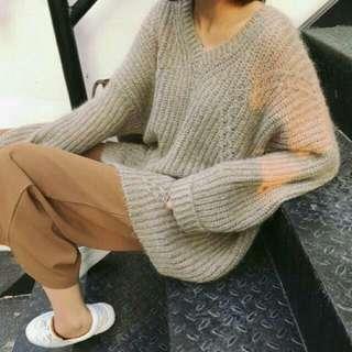 🚚 海馬毛 V領毛衣❤❤