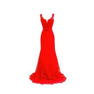 Gaun Baju Merah