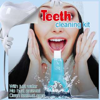 Magic Teeth Whitening/Cleaning Kit . 1st and the ONLY 1 Chemical Free Cleaning Kit !! Buy 1 Get 1 Free For limited Stock .