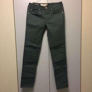 藍綠 長褲 直筒 修身 男