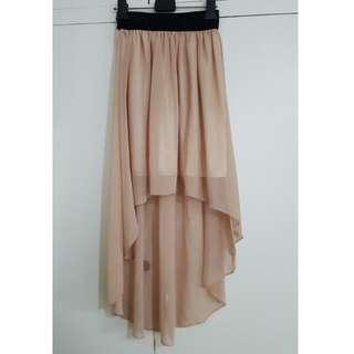 Short Front Long Back Skirt