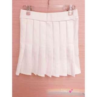 🌻白色百褶裙內有安全褲