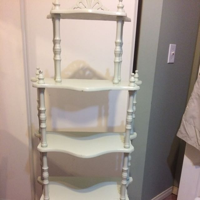 5 Tiered Wood Stand Up Shelving Unit