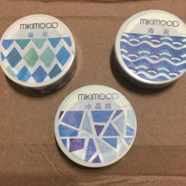 🚩mikimood 手帳裝飾 藍色波紋 和紙膠帶🚩