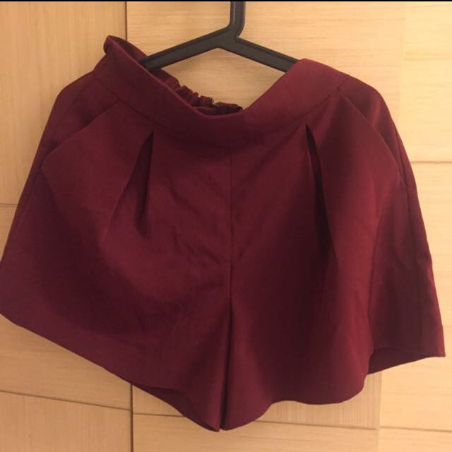 酒紅色帥氣西裝短褲裙 #兩百元短褲