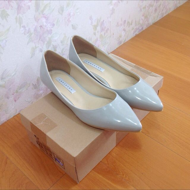 🌸全新🌸淺藍色低跟尖頭鞋