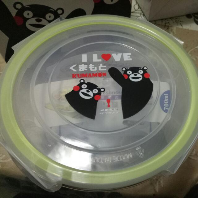 熊本熊密扣式玻璃保鮮盒