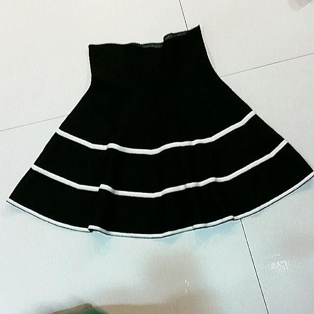 高腰厚棉短圓裙