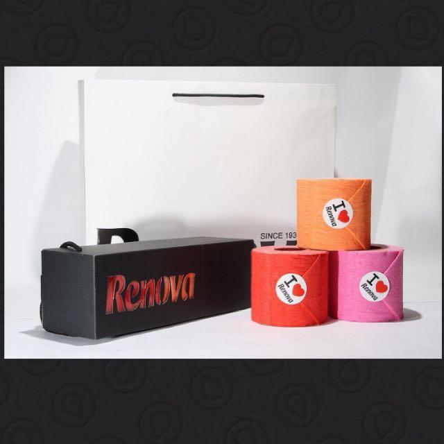全新 含運 Renova 葡萄牙 彩色捲筒衛生紙