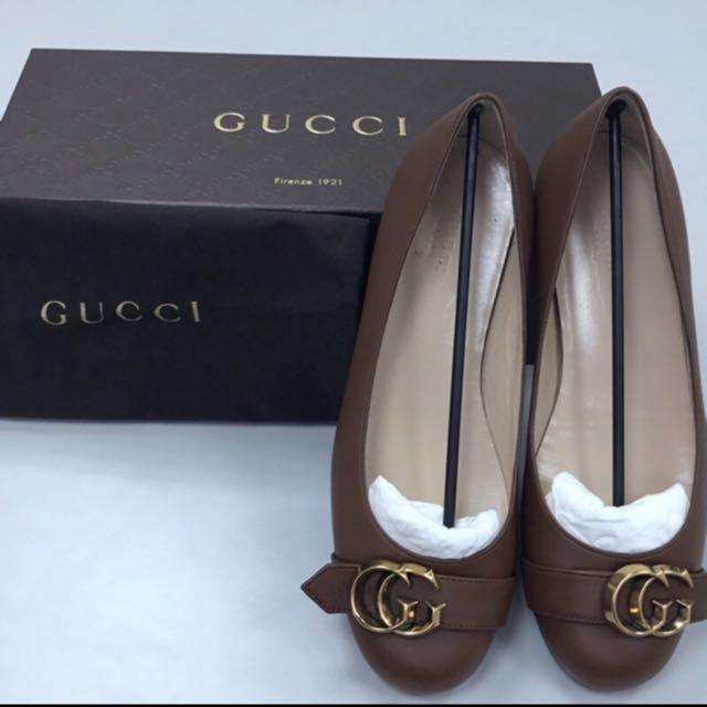 正品 Gucci娃娃鞋/可可(2手,僅穿一次)