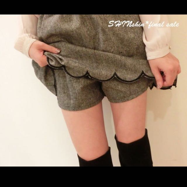 轉賣 ☆SHIN☆Majestic混色波浪花瓣偽裙子 褲裙小穎 麵包 kiki yabbi in jp 日貨 日本