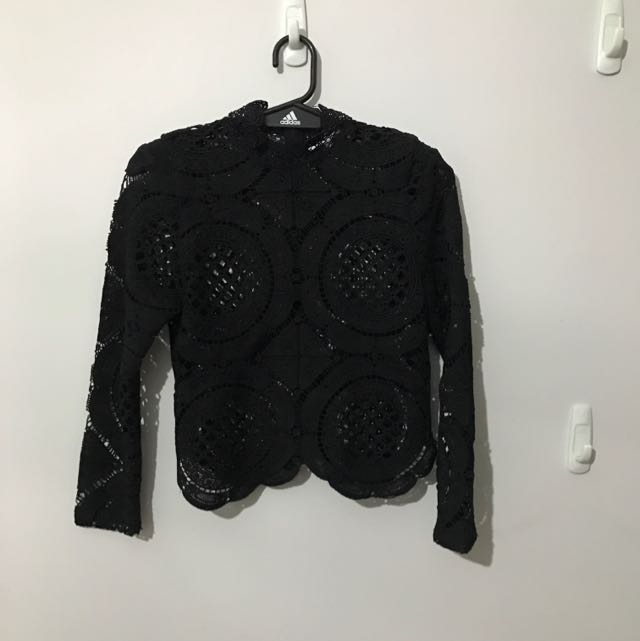 Asilio Black Lace Crop Top