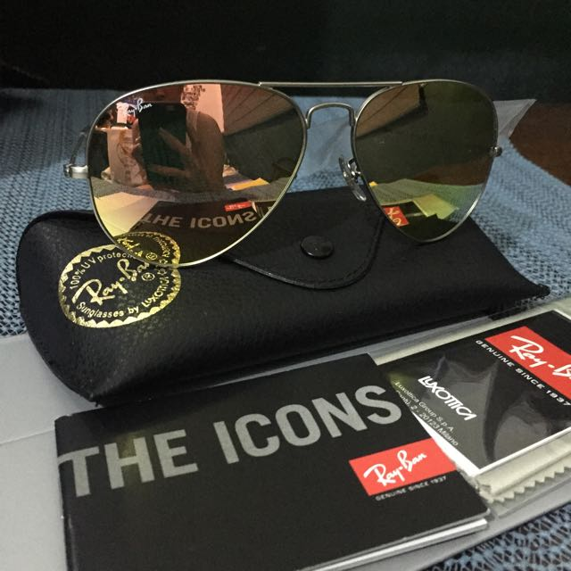 Authentic Ray-ban Flash Lens