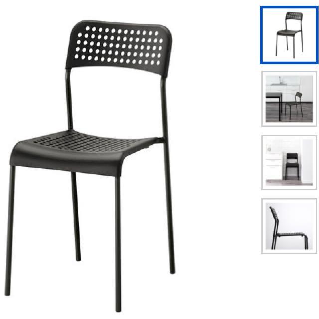 Black Ikea Adde Chair x2pcs #dirty30