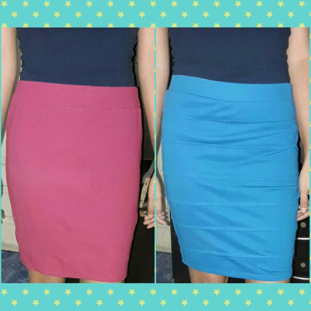 Blue And Pink Skirt