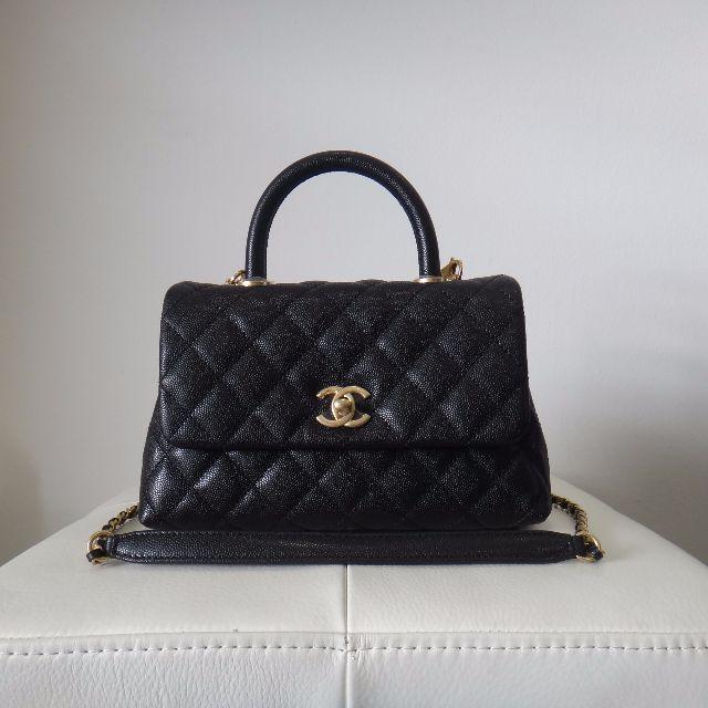 05b76981a293 BNIB Chanel Mini Coco Handle Bag Black
