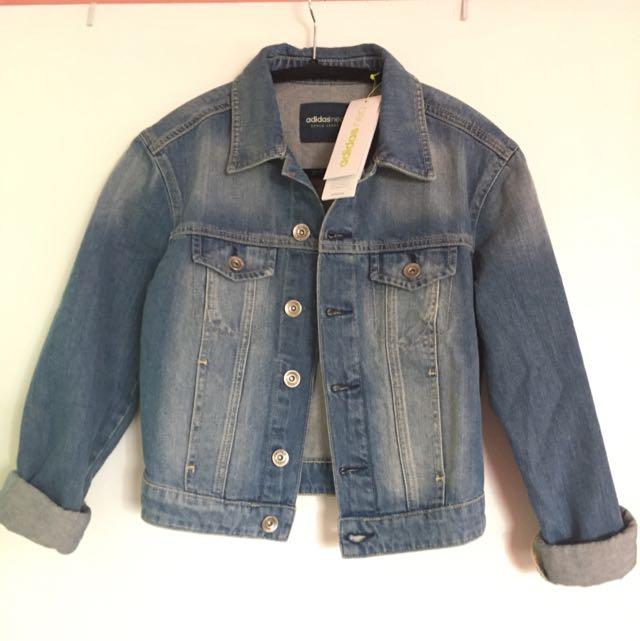 BNWT XS Adidas Denim Jacket
