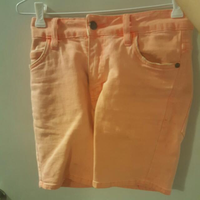 Bright Salmon Shorts