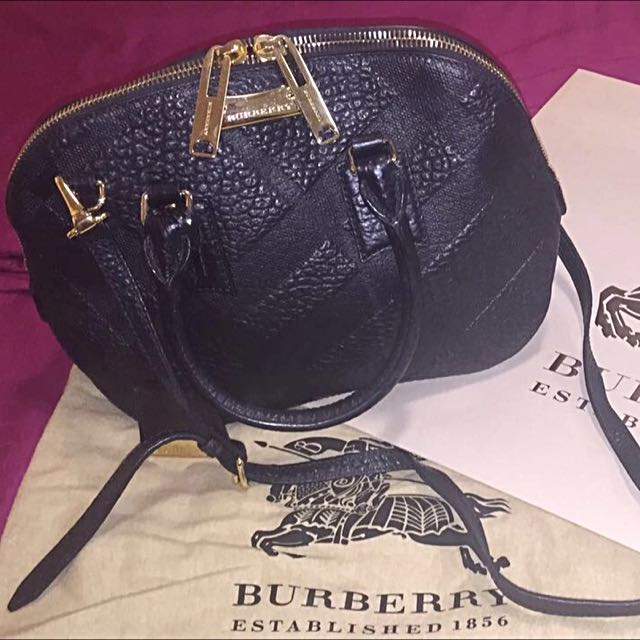 7f5968aa9d8 Burberry Small Orchard Checked Embossed, Luxury, Bags   Wallets on Carousell