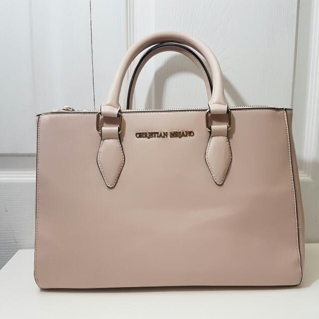 Christian Siriano Pink Leather Satchel