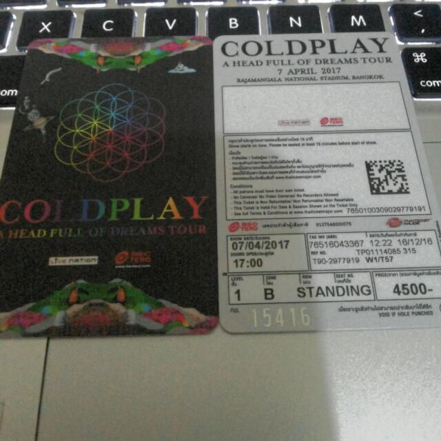 Coldplay @Bangkok 7th April 2017