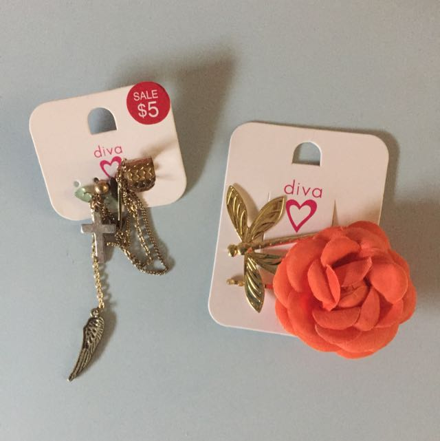 Diva Hair Clips And Earcuff