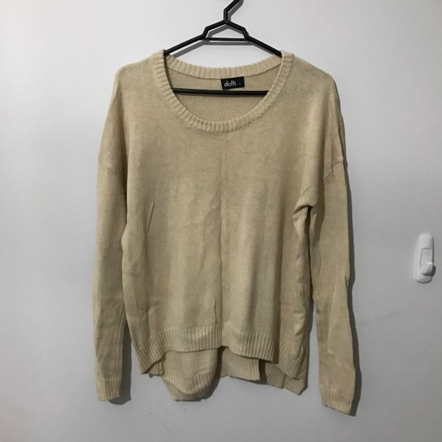 Dotti - Cream Jumper Size S