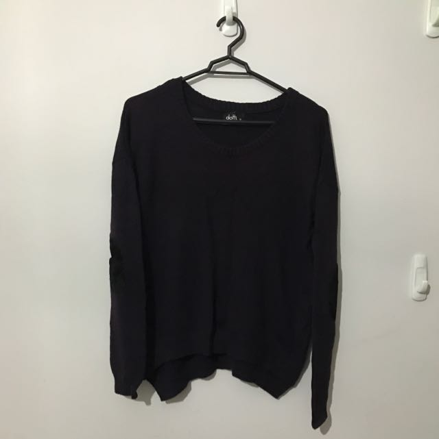 Dotti - Dark Purple Jumper Size XS