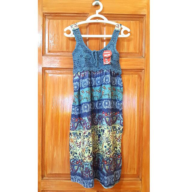 Dress with Butterfly and Paisley Print