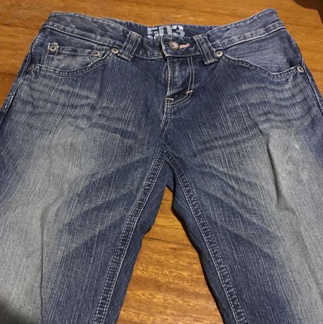 Edwin503 直筒牛仔褲 Size:S